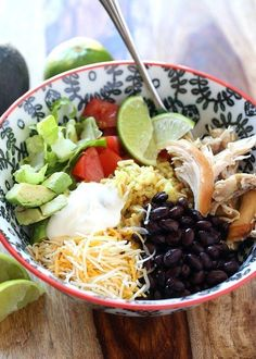 Super Easy Burrito Bowls | 24 Cheap And Easy Meals You Can Make With Rotisserie Chicken