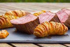 Rôti de boeuf basse température et ses pommes de terre en eventail
