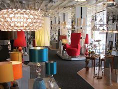 modern lighting showroom - Google Search