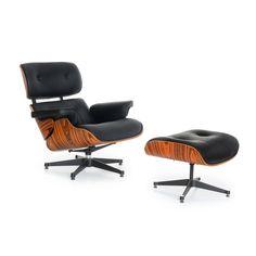 Fauteuil et Ottoman LOUNGE MERI (Chaises Iconiques Design) Armchair Eames