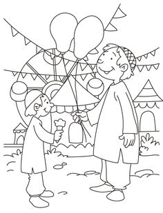 Celebrating Eid Coloring Page