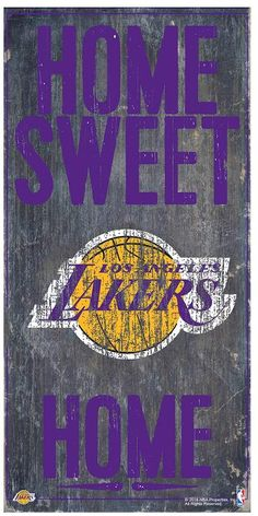 Kohl's Los Angeles Lakers Home Sweet Home Wall Art
