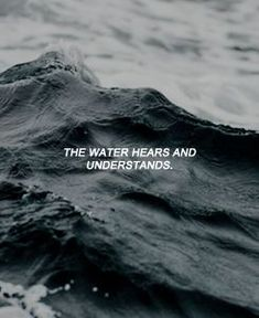 The water hears and understands. – Laurel Santiago The water hears and understands. Yoga And More, Organization Xiii, Spirit Fanfic, The Wicked The Divine, Sayaka Miki, Poster Print, Def Not, Piper Mclean, Six Of Crows