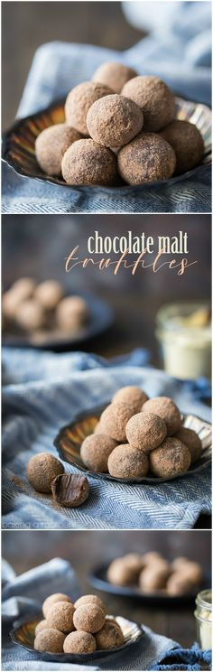 Need an easy homemade gift? These chocolate malt truffles are sure to please! You #homemadegifts