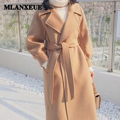 Shop a great selection of Coats Women Lantern Sleeve Wool&Blends Long Coat Casual Loose Wool Jacket. Find new offer and Similar products for Coats Women Lantern Sleeve Wool&Blends Long Coat Casual Loose Wool Jacket. Long Winter Coats, Long Wool Coat, Winter Coats Women, Coats For Women, Jackets For Women, Long Trench Coat, Clothes For Women, Wool Coats, Camel Coat