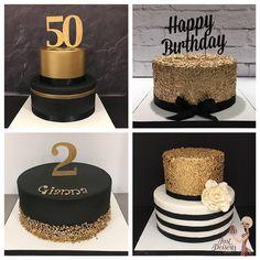 Black and Gold Celebration Cakes … - Birthday Cake Blue Ideen Black And Gold Birthday Cake, 50th Birthday Cakes For Men, Black And Gold Cake, 40th Cake, Wife Birthday, Birthday Quotes, Cake For Boyfriend, Smores Cake, Bolo Cake