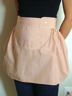 Cocktail Apron Made From Upcycled Men's Shirts by LoveIsTheLabel, $35.00