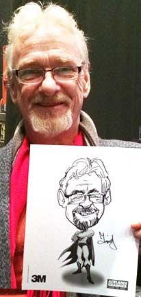 A drawing done form Timothy the caricature artist at a recent event. Caricature Artist, Caricature Drawing, Recent Events, Caricatures, Portrait, Drawings, Illustration, Men Portrait, Illustrations