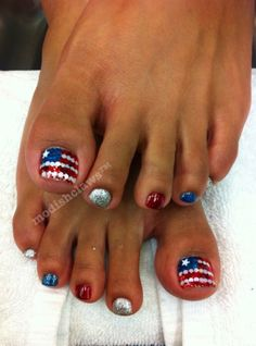 Forth of July nails.