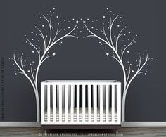 White Twinkle Tree Gate Wall Decal by by TheWhiteTreeStore on Etsy, $89.00