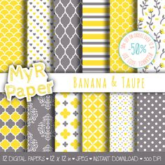 Un preferito personale dal mio negozio Etsy https://www.etsy.com/it/listing/507488619/romantic-digital-paper-banana-taupe
