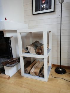 IKEA Hackers: Log rack : no more lack of storage
