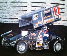 Steve Kinser could drive around them like nobody else!