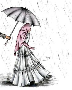 Gambar Wanita Berhijab Syari Kartun Kumpulan Dp Bbm Terbaru Gambar