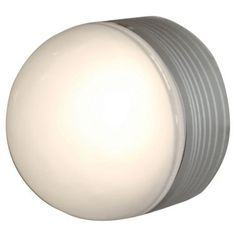 MicroMoon Satin Nickel Outdoor Ceiling or Wall Light -