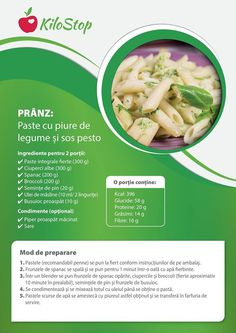 pranz: paste cu piure de legume si sos pesto Healthy Diet Recipes, Baby Food Recipes, New Recipes, Toddler Friendly Meals, Pasta, Diet And Nutrition, Lunches And Dinners, Food Preparation, Clean Eating