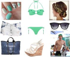 """""""Beach With Niall"""" by florccitaa ❤ liked on Polyvore"""