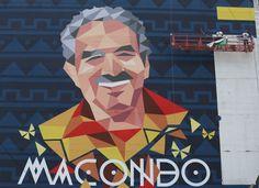 Recientemente la Alcaldía pagó 10 mil dólares por un mural homenaje al Nobel colombiano.   AP PHOTO/Fernando Vergara