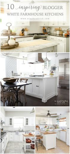 Check out these 10 inspiring white farmhouse kitchens, they are packed with tons of DIY ideas to get the modern farmhouse look!