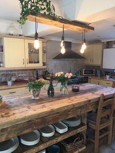 Kitchen Island Storage, Farmhouse Kitchen Island, Kitchen Island Decor, Modern Kitchen Island, Kitchen Layout, Home Decor Kitchen, Kitchen Interior, New Kitchen, Kitchen Island Looks Like Table