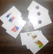 Sticker partners: pass out these cards; students find the person who has the matching sticker and that's their partner for the activity.