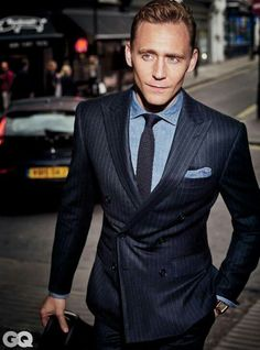 Have you ever wondered what cheekbones wearing a suit would look like? Well, there ya go. #TomHiddleston