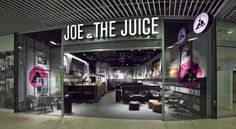 Joe the Juice by Riis Retail Aarhus Denmark 10 Food Retail, Retail Shop, Retail News, Joe And The Juice, Hotel Architecture, Coffee Culture, Coffee Branding, Restaurant, Aarhus