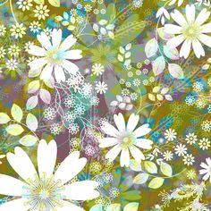 Meadow Morning Crisp fabric by art_is_us on Spoonflower - custom fabric