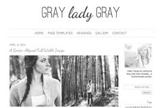 Check out Gray Lady Gray Responsive WordPress by angiemakeswebsites on Creative Market