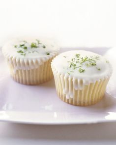 Triple-Citrus Cupcakes.  As always with cupcakes you can convert one large cupcake into 3 two bite ones.  This is great for a dinner party, BBQ, shower or wedding!