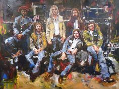 Steve Penley painting of The Allman Brothers Band