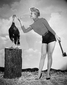 Fashion and Action: Happy Thanksgiving! Retro Turkey and Pilgrim Pin-Ups