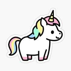 Stickers Cool, Stickers Kawaii, Preppy Stickers, Unicorn Stickers, Printable Stickers, Cute Animal Drawings Kawaii, Cute Easy Drawings, Mini Drawings, Cute Little Drawings