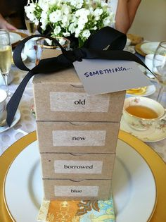 Cute idea for gifts for the bride! They need to be cuter though!