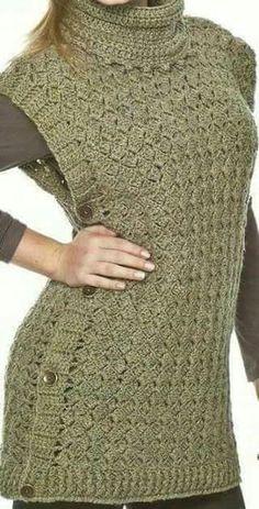 images attach c 7 98 793 Crochet Jacket, Crochet Cardigan, Crochet Clothes, Diy Clothes, Cute Crochet, Knit Crochet, Knitting Patterns, Crochet Patterns, Crochet Stitches