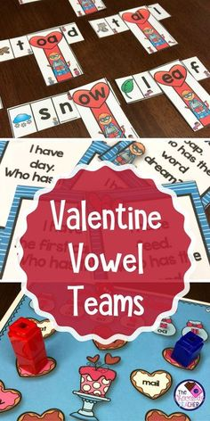 Valentine's Day is all about LOVE! Your first or second grade students will LOVE these vowel team activities. There are 3 games, a word building activity with a recording sheet, and fun worksheets. These activities are perfect for small groups or literacy