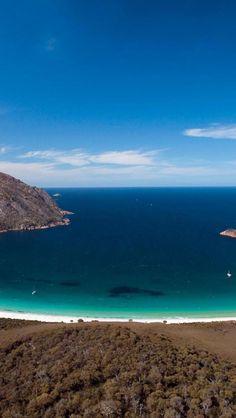 Wineglass Bay, Freycinet National Park, Natural Scenery, Tasmania, Australia, Europe, Geography,   iPhone wallpapers HD