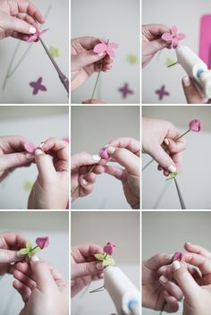 DIY:: How to make felt ranunculus flower buds - so cute!!!
