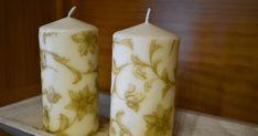 Cómo decorar velas con servilletas de papel