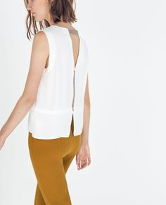 Image 3 of CONTRAST EDGE TOP from Zara