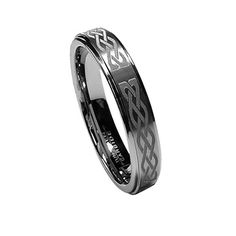 Tungsten Ring Direct - Tungsten Ring for Women, Classy, Laser Etched Knot, Polished Edge - 6MM, $24.99 (http://www.tungstenringdirect.com/tungsten-ring-for-women-classy-laser-etched-knot-polished-edge-6mm/)