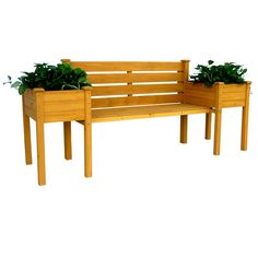 This wooden bench with a backrest and planter boxes enhance the look of your deck, porch or garden . You will finally have seating that does not disrupt the look of your handiwork.