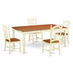 Astoria Grand Chalus 7 Piece Extendable Dining Set & Reviews | Wayfair Round Dining Room Sets, 7 Piece Dining Set, Dining Table In Kitchen, Dining Area, Double Pedestal Dining Table, Solid Wood Dining Set, Breakfast Nook Dining Set, Comfortable Dining Chairs, Dining Furniture