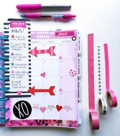 ink & paint February Prep in The Happy Planner™ of mambi Design Team member Casie Gutierrez | me & my BIG ideas