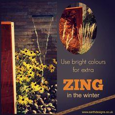 Get winter colour from hard landscaping. #gardendesigntip #earthdesigns #londongardendesgin #essexgardendesign