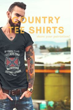 Confederate flag tee shirt & other country tee shirts