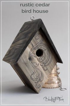 Beautifully Handmade cedar birdhouse for your fine feathered friends. Limited quantities available this spring. Order yours today! Diy Home, Easy Home Decor, Home Decor Items, Etsy Free Shipping, Hobby Farms, Swirl Pattern, Small Birds, Bird Houses, Vintage Designs