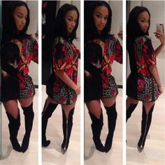 Draya Wears A $508 Givenchy Floral Gangsta Madonna Print Tee-Shirt & $1,990 Tom Ford Zipper-Heel Over-the-Knee Leather Boots- http://getmybuzzup.com/wp-content/uploads/2013/10/206983-thumb.png- http://getmybuzzup.com/draya-wears-a-508-givenchy-floral-gangsta-madonna-print-tee-shirt-1990-tom-ford-zipper-heel-over-the-knee-leather-boots/-  By Don Bleek Reality star Draya Michele attended Style Fashion Week in Los Angeles. For the presentation, the Basketball Wive Los Angeles st