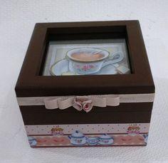 Caixa de Chá 4 Divisórias