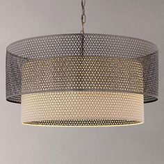 Buy John Lewis Meena Fretwork Steel Pendant Light, Large Online at johnlewis.com